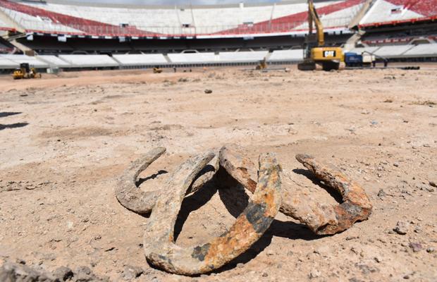 obras del estadio Monumental