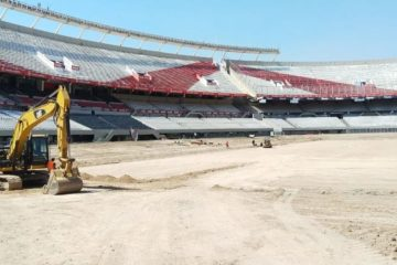 obras en el estadio monumental