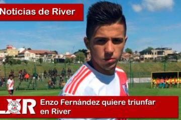 Enzo Fernández quiere triunfar en River