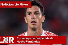El mensaje de despedida de Nacho Fernández