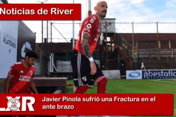 Javier Pinola sufrió una Fractura en el ante brazo