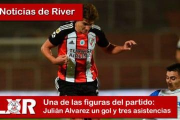 Julián Alvarez un gol y tres asistencias