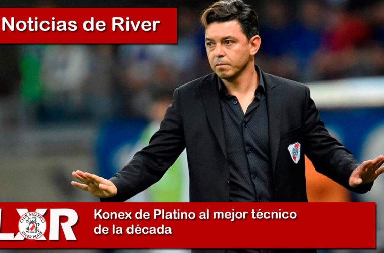 Marcelo Gallardo Konex de Platino como mejor técnico de la década