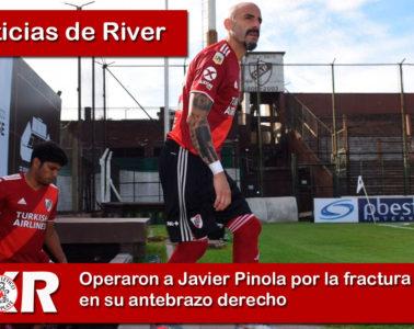 Operaron a Javier Pinola por la fractura en su antebrazo derecho