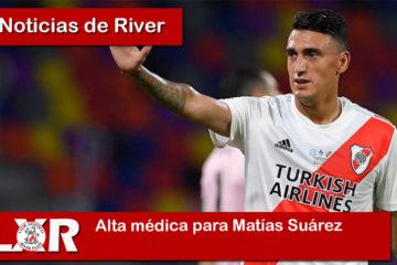 Alta médica para Matías Suárez