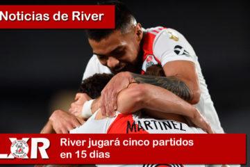 River jugará cinco partidos en 15 dias
