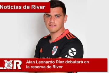 Alan Leonardo Díaz debutará en la reserva de River
