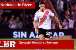 Gonzalo Montiel se lesionó