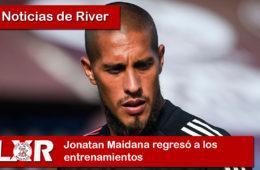Jonatan Maidana regresó a los entrenamientos