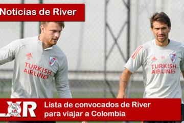 Lista de convocados de River para viajar a Colombia