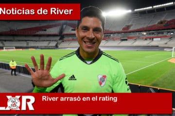 River arrasó en el rating