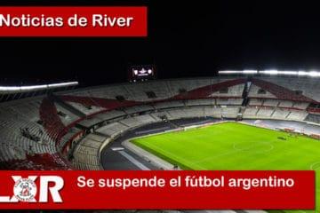 Se suspende el fútbol argentino