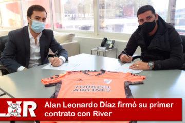 Alan Leonardo Díaz firmó su primer contrato con River
