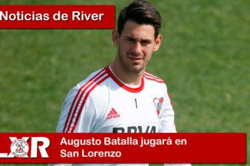 Augusto Batalla jugará en San Lorenzo