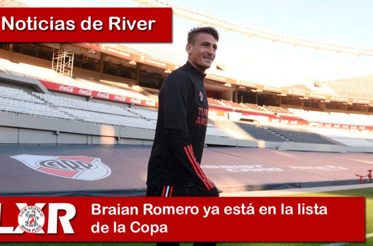 Braian Romero ya está en la lista de la Copa