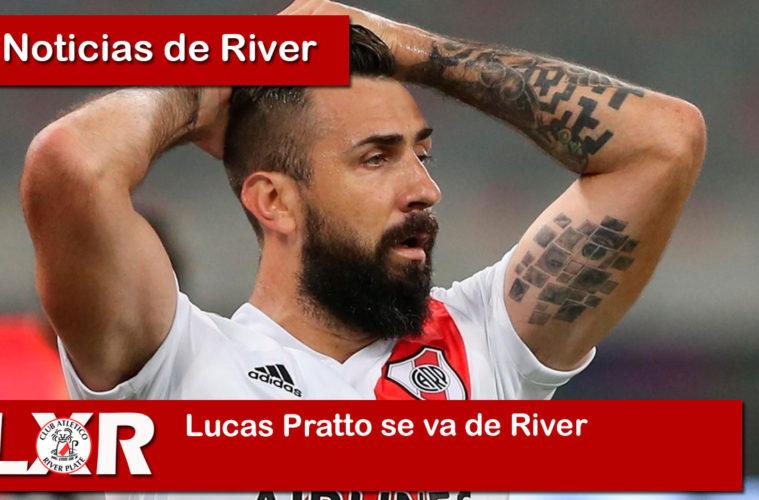 Lucas Pratto se va de River