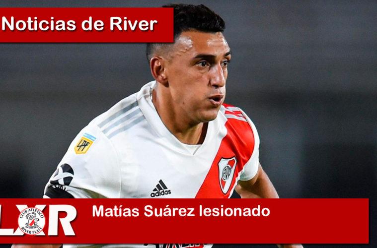 Matías Suárez lesionado