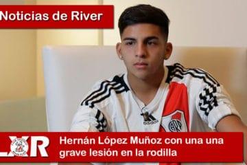 Hernán López Muñoz con una una grave lesión en la rodilla